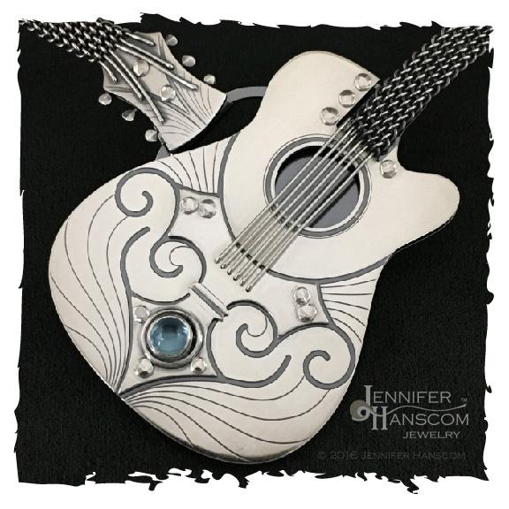 Close-up of Guitar Necklace