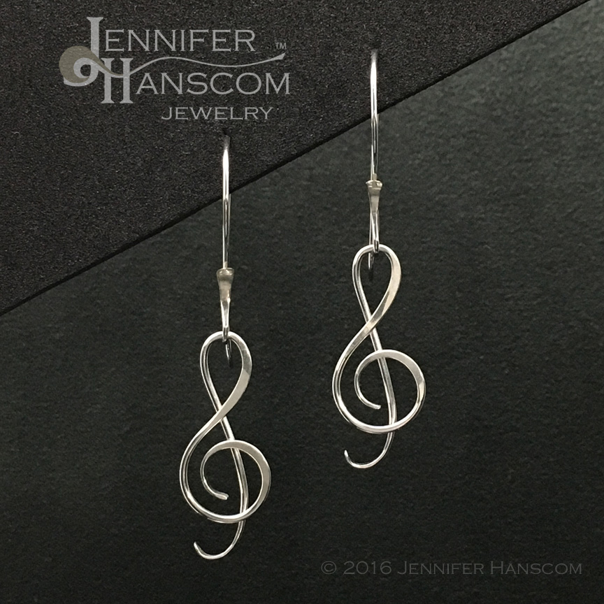 G Clef Earrings