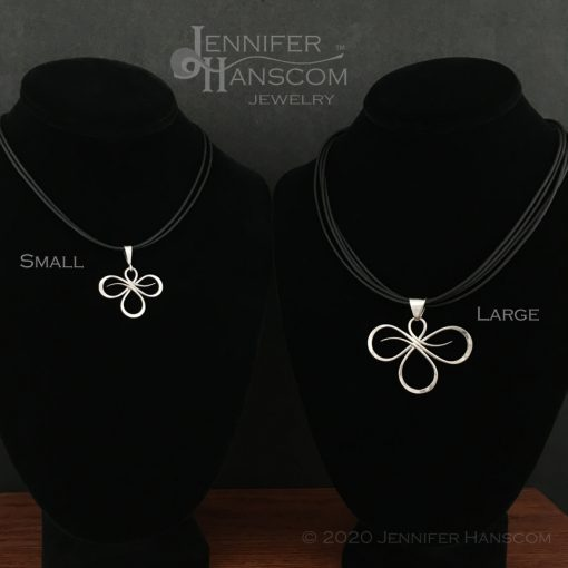 Tri-Flourish Pendant Size Comparison