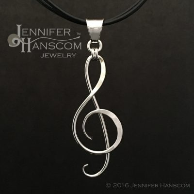 Large Treble Clef Pendant or G-clef Pendant