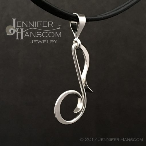 Musical Note Pendant left profile