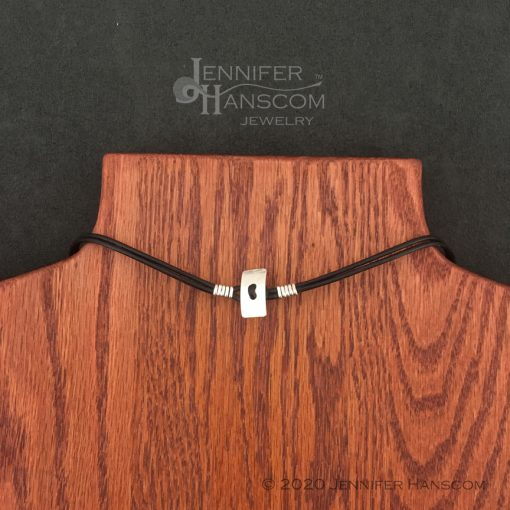 Quality-made 2-strand leather necklace back
