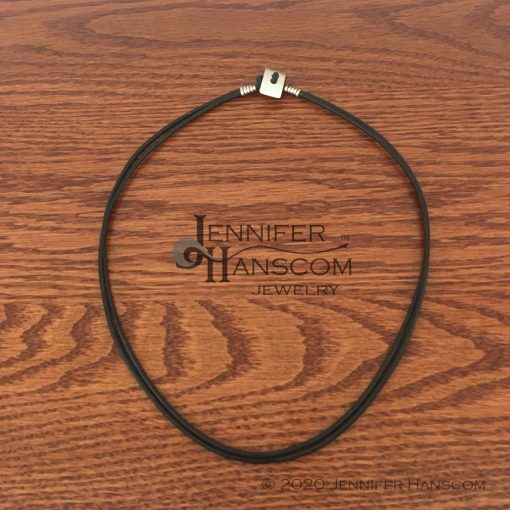 Quality-made 2-strand leather necklace laying flat
