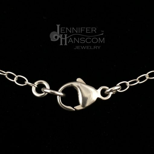 Small silver cable chain necklace clasp