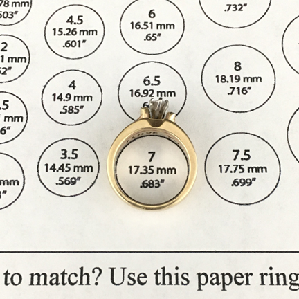 match your ring chart in action