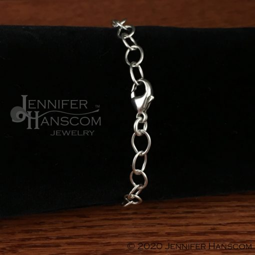 Wings and waves bracelet clasp