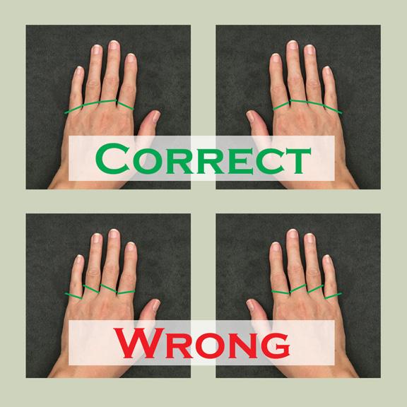 correct and wrong angles