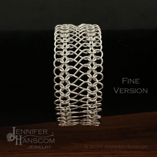 Tri-Flourish Fine Bracelet with Infinity Link Chain - on form