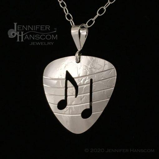 Small Pierced Guitar Pick Pendant - profile 2