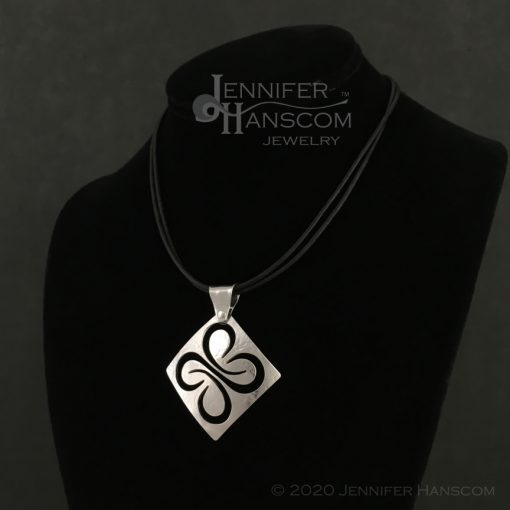 Medium Pierced Quad-Flourish Pendant - on form 2