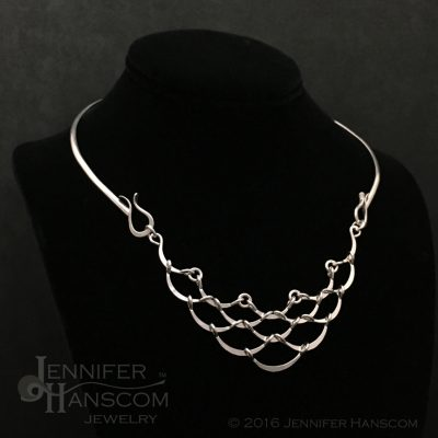 Ripple Cascade Neckpiece on form