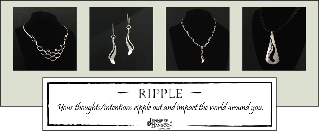 Images of jewelry from the Ripple Collection