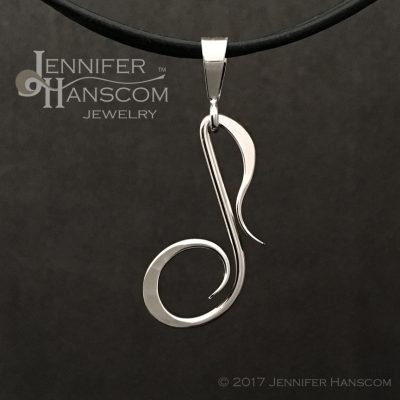 Musical Eighth Note Pendant